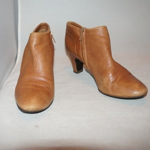 J.  crew soft leather tan anke boots